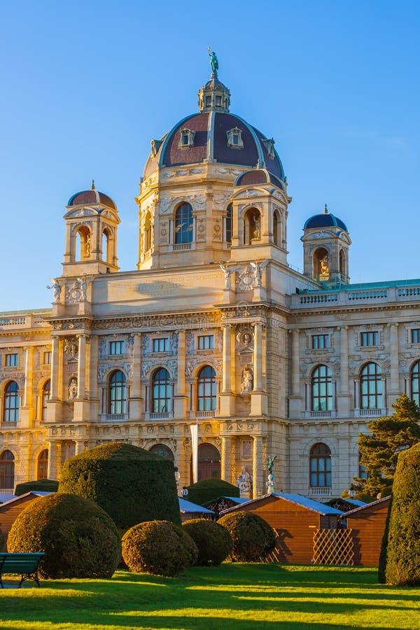 Parque perto do quarto do museu em Viena Áustria imagem de stock royalty free