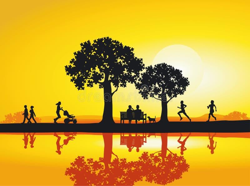 Parque por la tarde libre illustration
