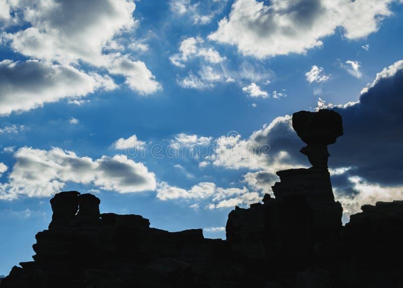Parque provincial de Ischigualasto em Argentina foto de stock