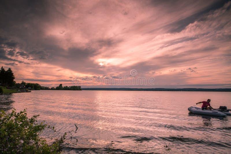 Parque provincial do ile de Presqu do por do sol ' imagens de stock royalty free