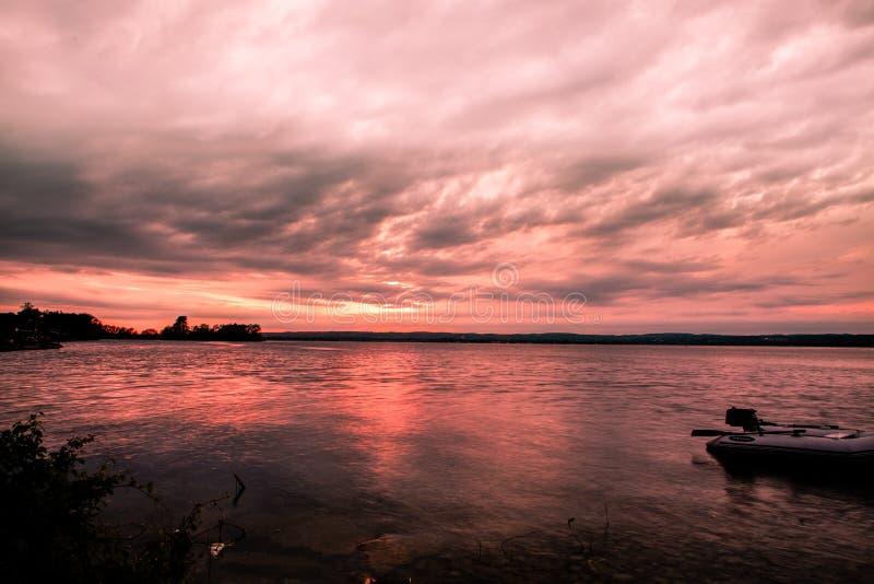 Parque provincial do ile de Presqu do por do sol ' fotografia de stock