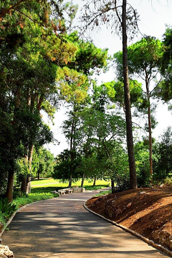Parque Ramat Hanadiv, jardins memoráveis de Baron Edmond de Rothschild, Zichron Yaakov, Israel imagens de stock