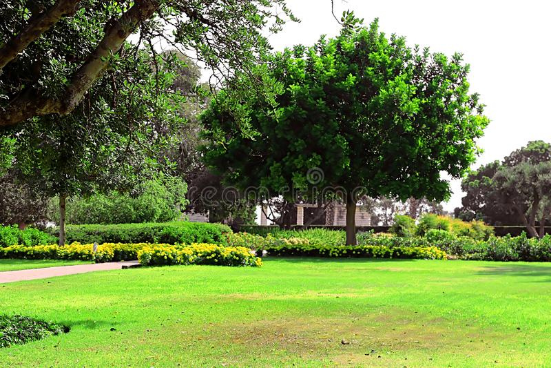 Parque Ramat Hanadiv, jardins memoráveis de Baron Edmond de Rothschild, Zichron Yaakov, Israel imagem de stock royalty free