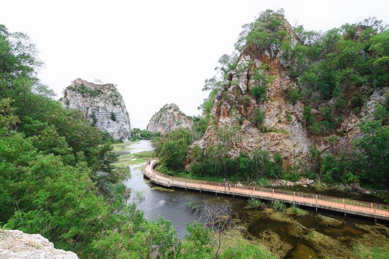 Parque Ratchaburi da pedra de Khao Ngu fotos de stock royalty free