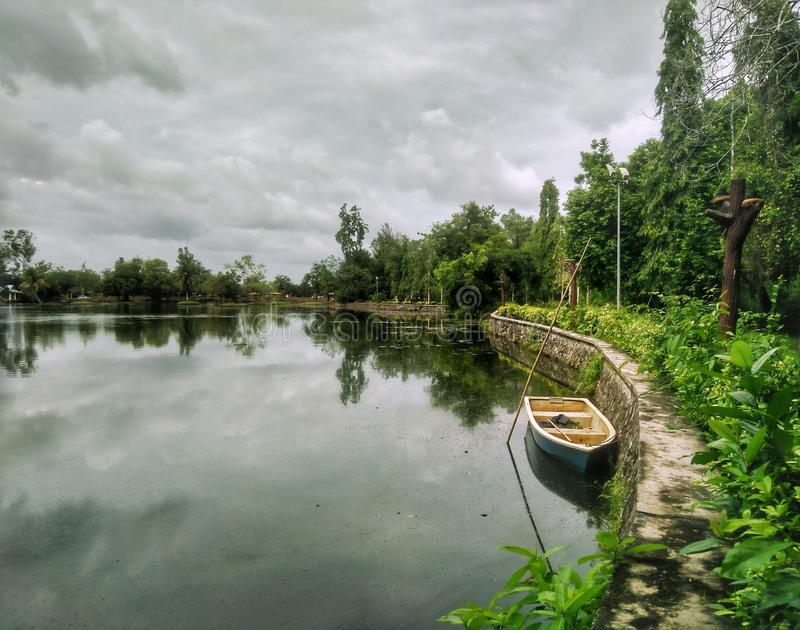 Parque recreacional de Tasik Melati, Kangar, Perlis foto de stock royalty free