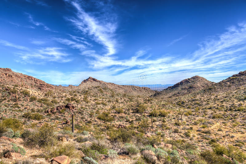 Parque regional da montanha AZ-Waddell-branca do tanque fotos de stock royalty free