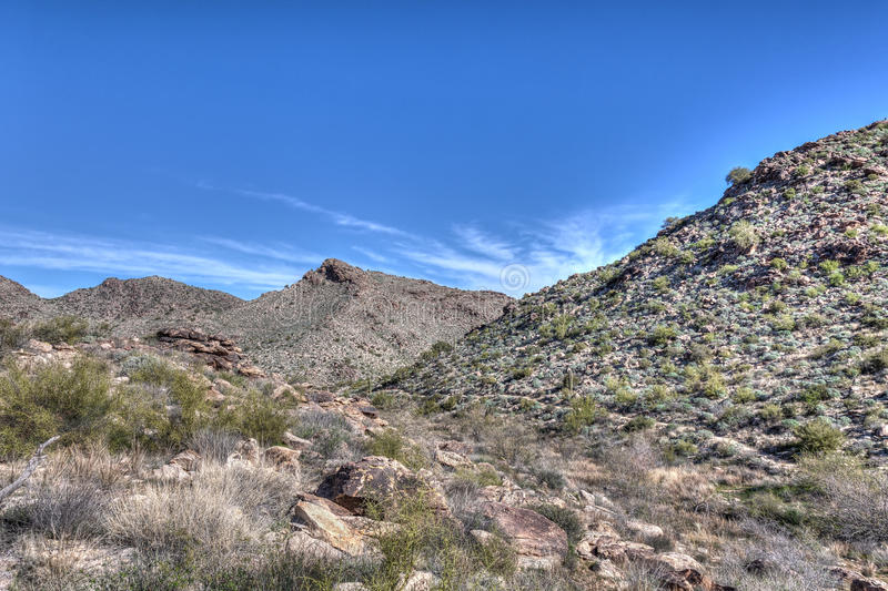 Parque regional de la montaña AZ-Waddell-blanca del tanque imagenes de archivo