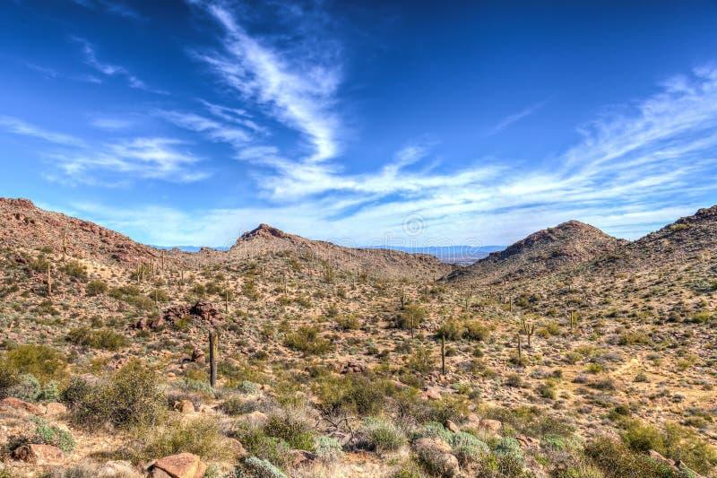 Parque regional de la montaña AZ-Waddell-blanca del tanque fotos de archivo libres de regalías