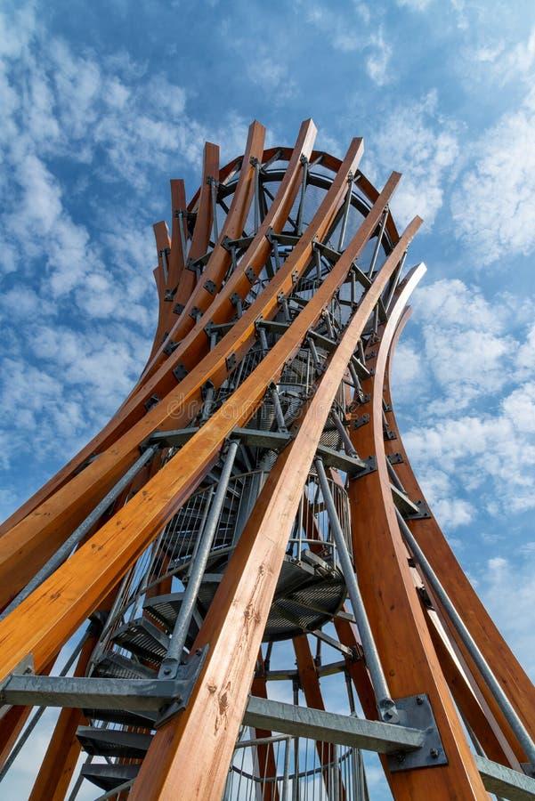Parque regional de Meteliai, torre de observación, Lituania imagen de archivo libre de regalías
