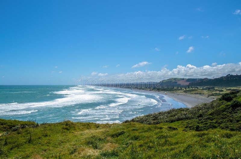 Parque regional de Muriwai, Nueva Zelanda fotografía de archivo