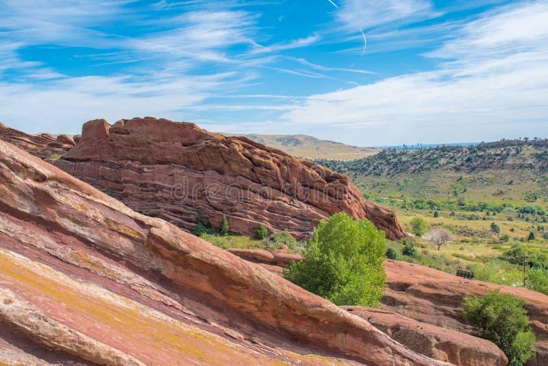Parque rojo de las rocas imagenes de archivo