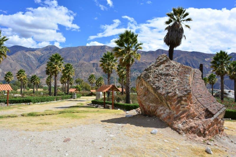 Parque Santo di Yungay, nel Perù immagine stock