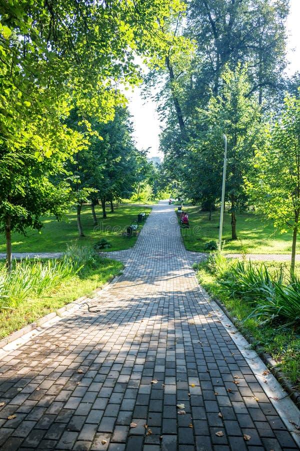 Parque-señorío viejo Belkino en día de verano fotografía de archivo