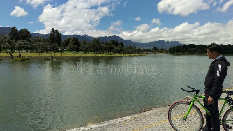 Parque Simon Bolivar stock foto