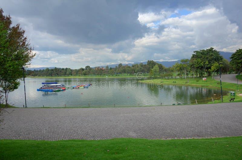 Parque Simon Bolivar, Bogota. Simon Bolivar Park in Bogota, Colombia stock photography