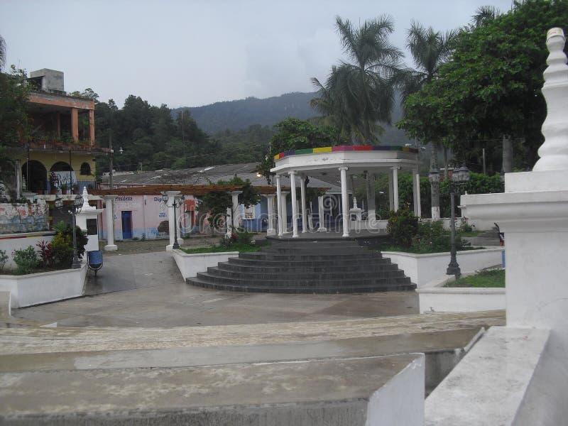 Parque situado en Esquipulas, Chiquimula foto de archivo