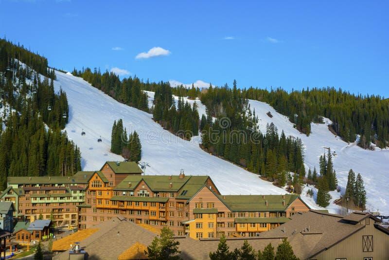 Parque Ski Area del invierno en los Colorado Rockies fotografía de archivo libre de regalías