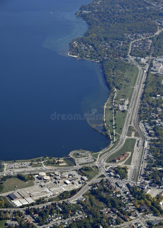 Parque sul Barrie da costa, aéreo imagem de stock