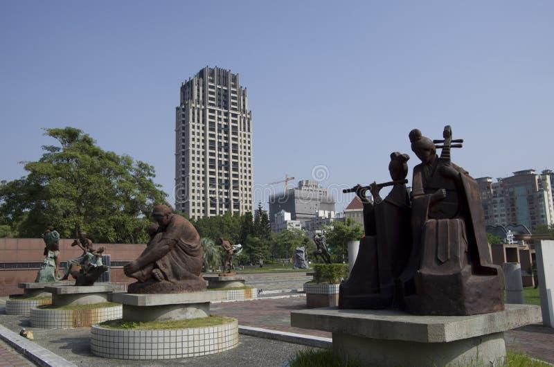 Parque Taichung Taiwan da escultura de Fengle imagem de stock