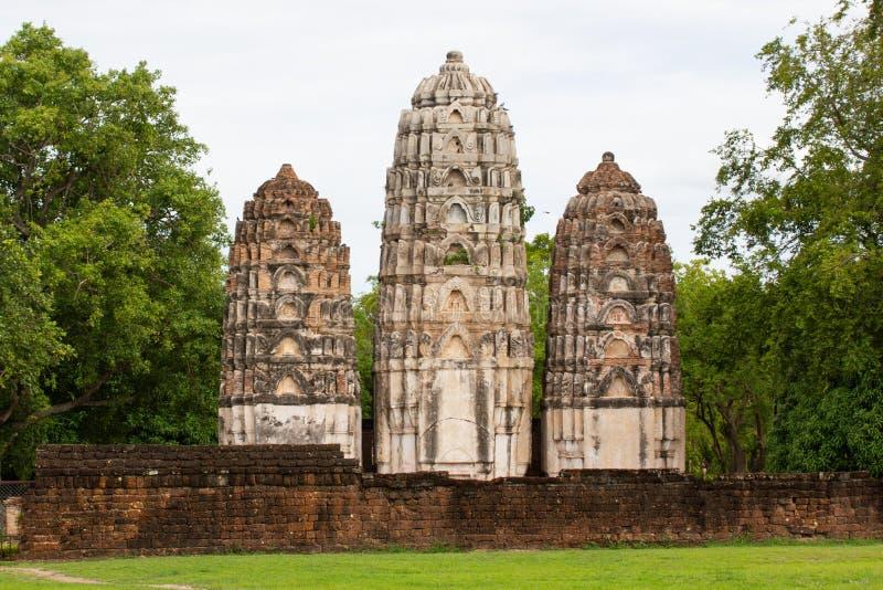Parque TAILÂNDIA de Wat Si Sawai Sukhothai Historical foto de stock