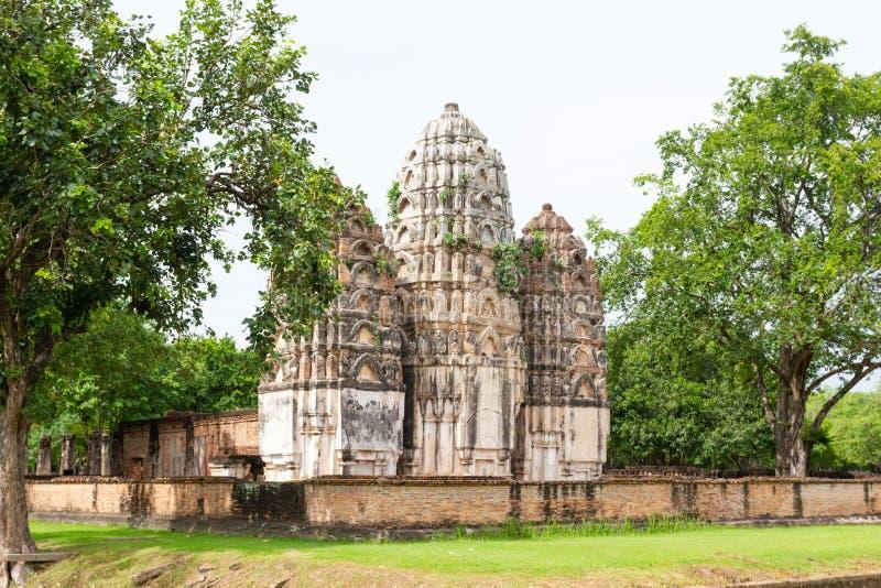 Parque TAILÂNDIA de Wat Si Sawai Sukhothai Historical fotografia de stock