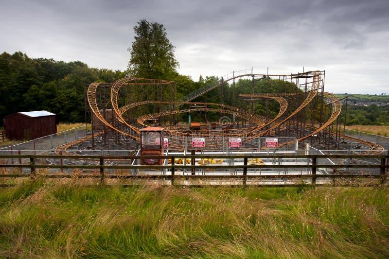 Parque temático abandonado imagen de archivo