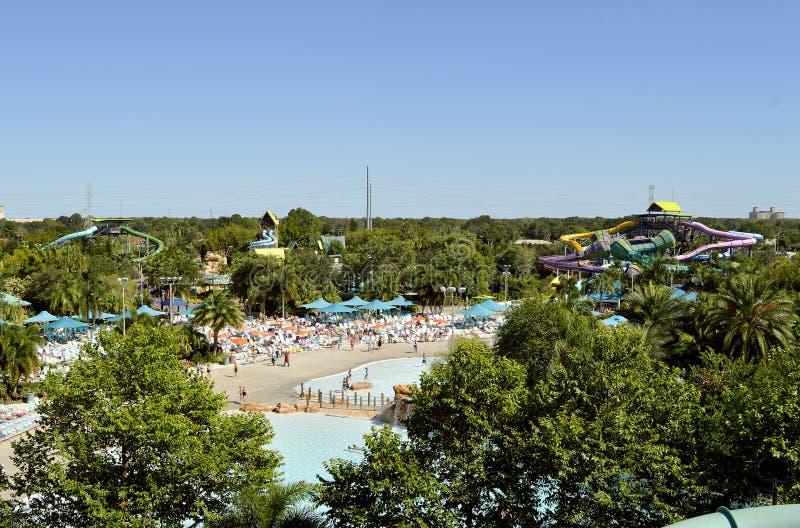 Parque temático de Aquatica en Orlando fotos de archivo
