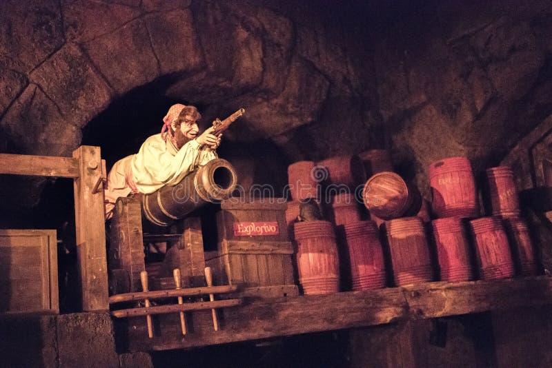 Parque temático de Disneyland Resort em Anaheim, Califórnia foto de stock royalty free