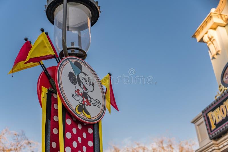 Parque temático de Disneyland Resort en Anaheim, California fotos de archivo