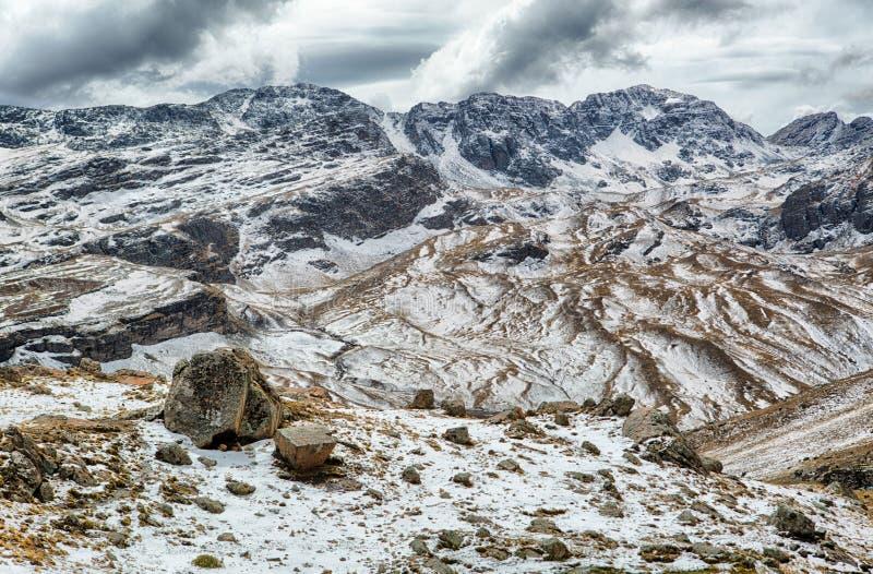 Parque Tunari национального парка в высоких Андах около Cochabamba, Боливии стоковое фото rf