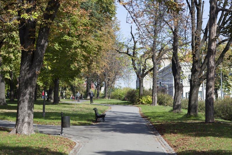 Parque Usce em Belgrado, Sérvia foto de stock royalty free