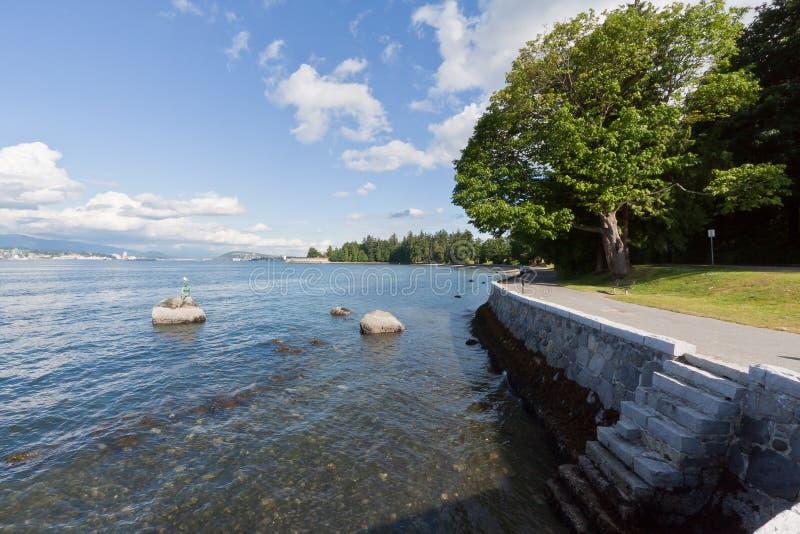 Parque Vancouver de Stanley imagenes de archivo
