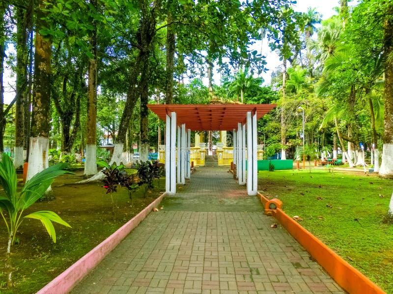 Parque Vargas, City Park in Puerto Limon, Costa Rica. Parque Vargas, City Park in Puerto Limon at Costa Rica stock photography