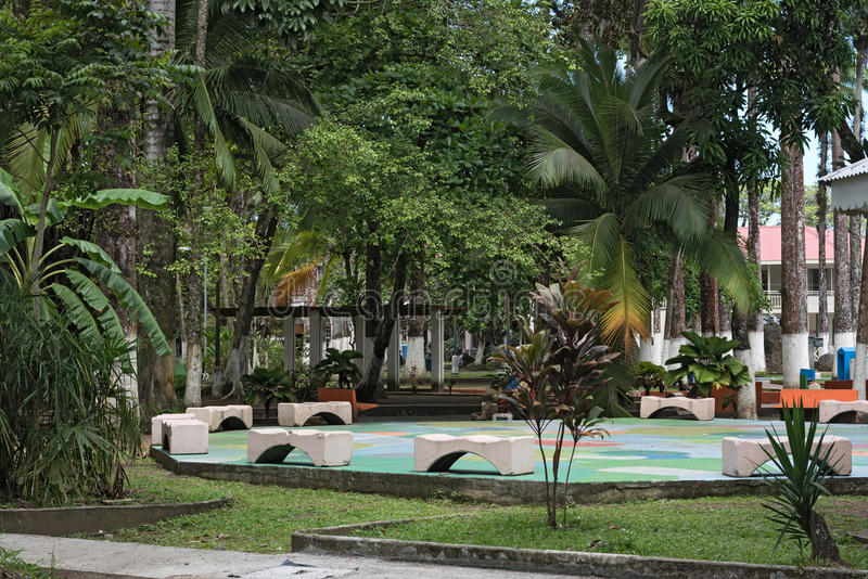 Parque Vargas, parc de ville dans Puerto Limon, Costa Rica photographie stock