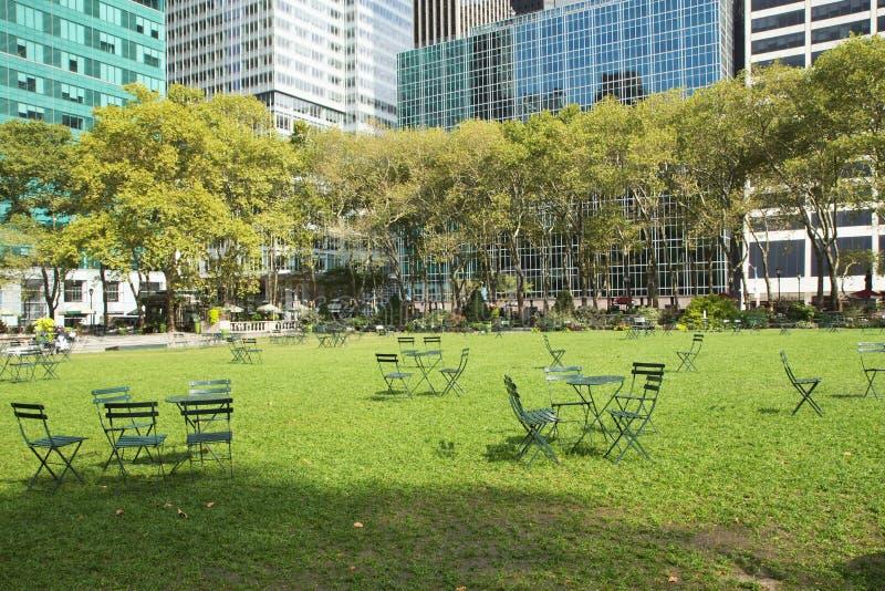 Parque vazio de Bryant em New York City foto de stock royalty free