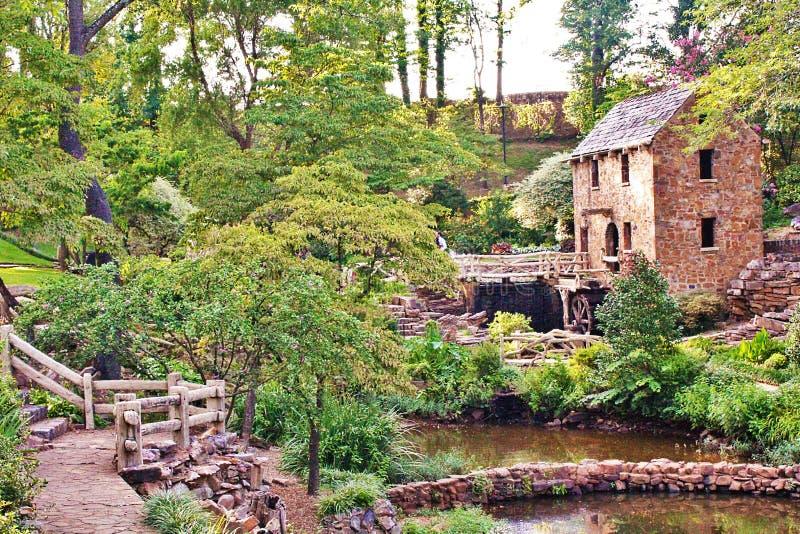Parque velho do moinho, Little Rock norte foto de stock