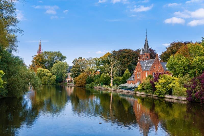 Parque velho em Bruges fotos de stock