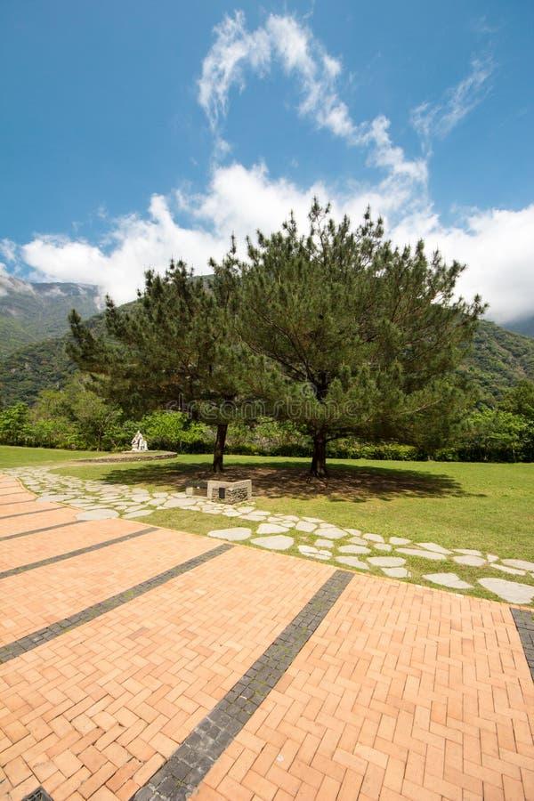 Parque verde no montanhês fotografia de stock