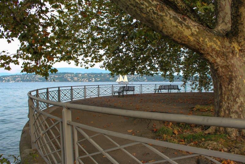 Parque William Rappard embankment genebra foto de stock royalty free