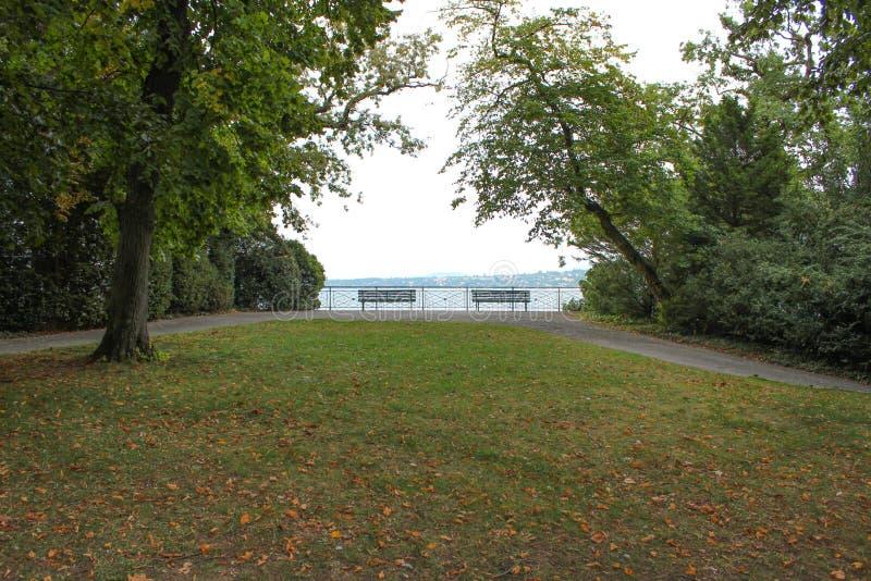 Parque William Rappard embankment genebra imagem de stock