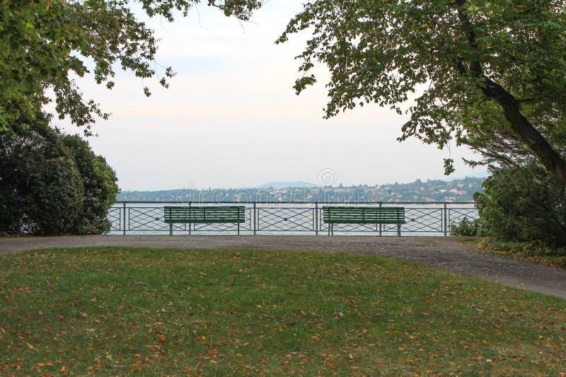 Parque William Rappard embankment genebra fotografia de stock royalty free