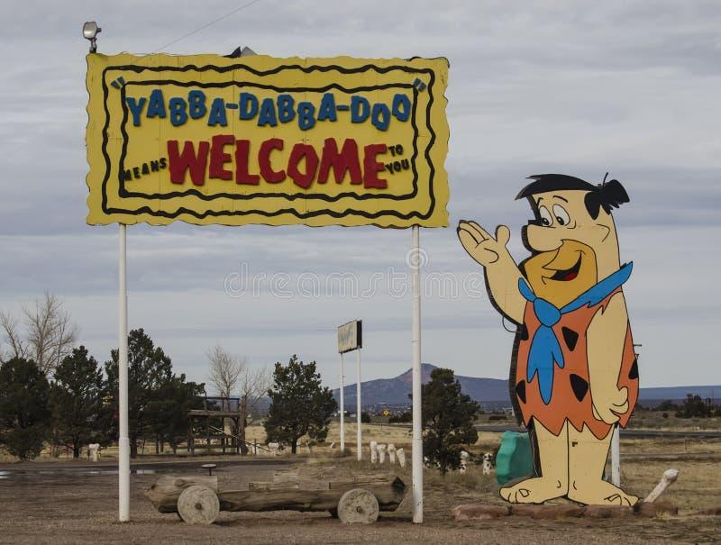 Parque y alojamiento del Flintstone rv fotografía de archivo libre de regalías