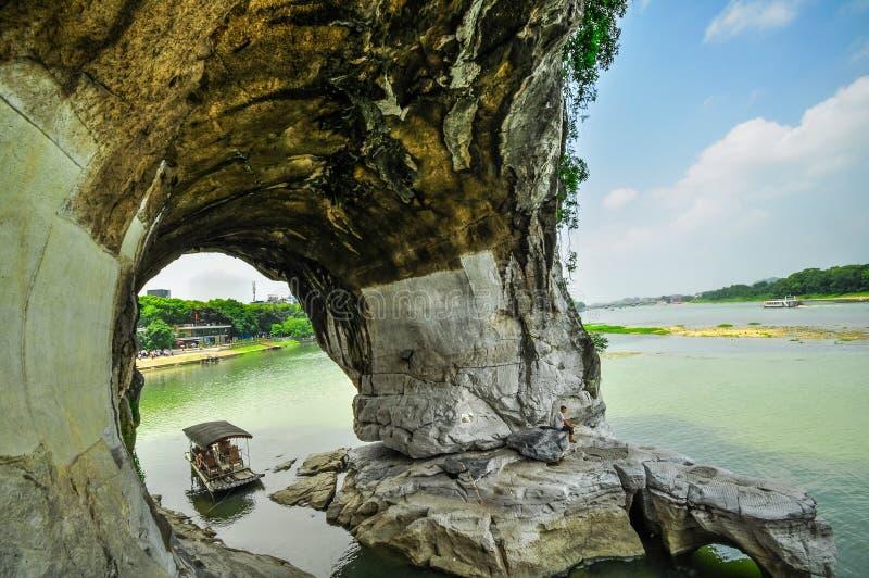 Parque y karst Yangshuo de la estrella de Guilin China siete. foto de archivo libre de regalías