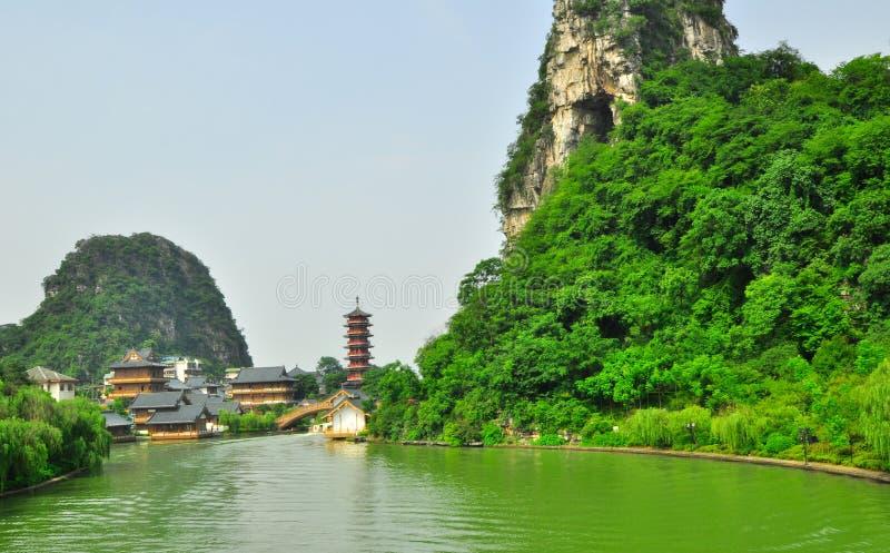Parque y karst Yangshuo de la estrella de Guilin China siete. imágenes de archivo libres de regalías