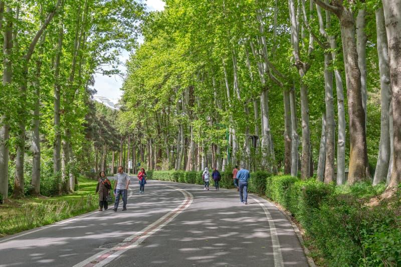 Parque Zafaranieh de Tehran foto de stock royalty free