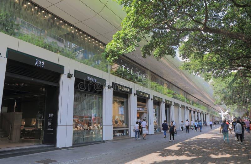 Parquee la calle Hong Kong de las compras del camino de Nathan del bulevar de Shpper's del carril imagen de archivo libre de regalías