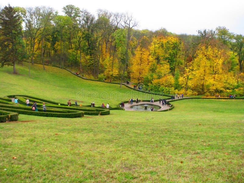 Parquee Sofiyivka en la ciudad de Uman en Ucrania en el otoño fotografía de archivo
