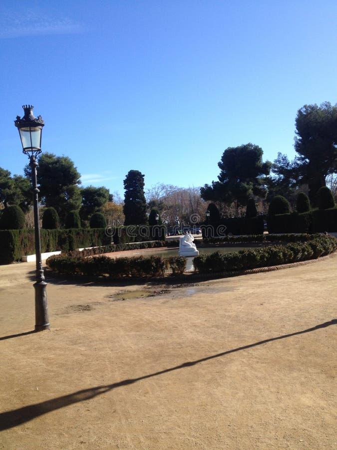 Parques de Barcelona imagem de stock