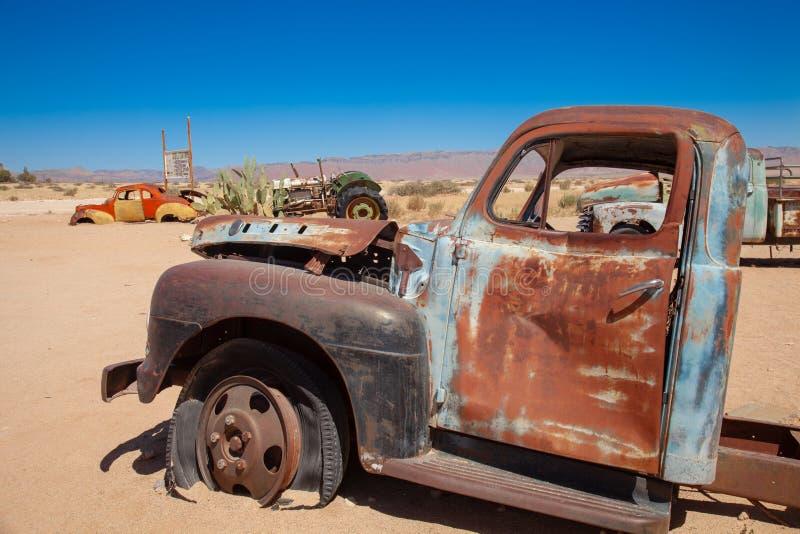 Parques nacionales de la ciudad del solitario de Namibia entre el desierto y la sabana foto de archivo libre de regalías