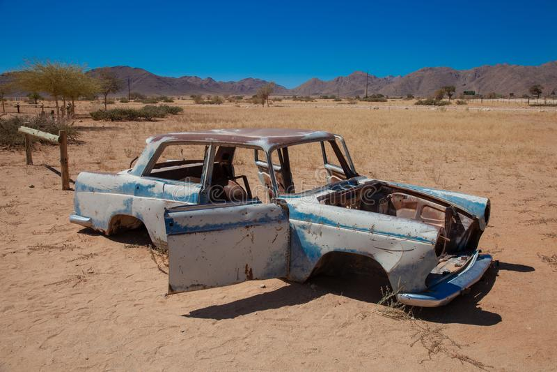 Parques nacionales de la ciudad del solitario de Namibia entre el desierto y la sabana fotografía de archivo libre de regalías